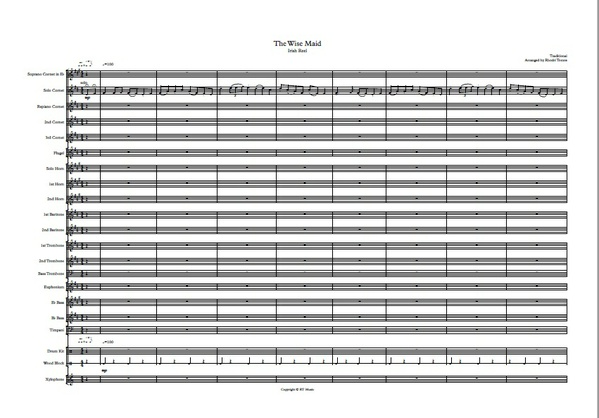 Brass band: The Wise Maid (Irish reel) arrangement.