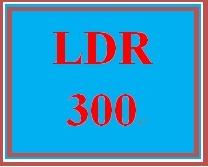 LDR 300 Week 5 Learning Team Evaluation