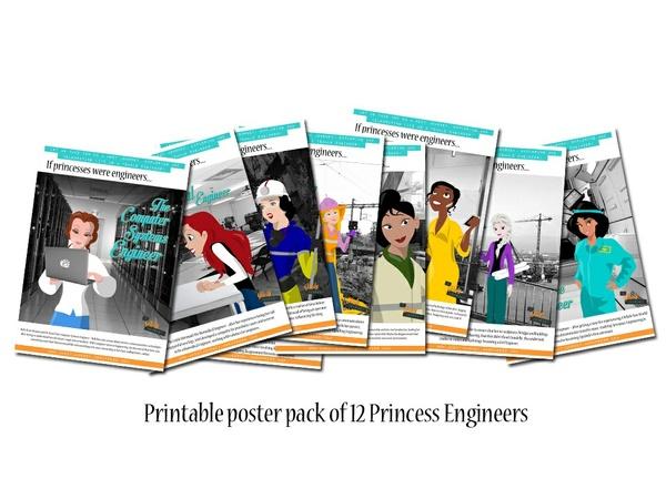 Princess Engineer Printable Poster Pack