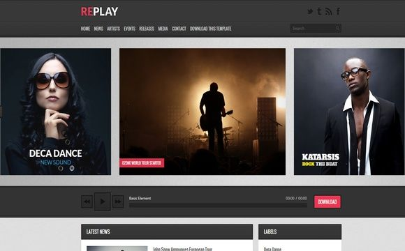 Replay Blogger Template Premium Version
