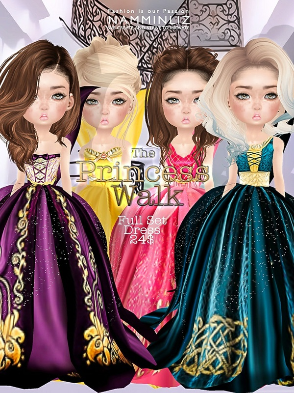 The Princess walk Full SET imvu Texture JPG delure