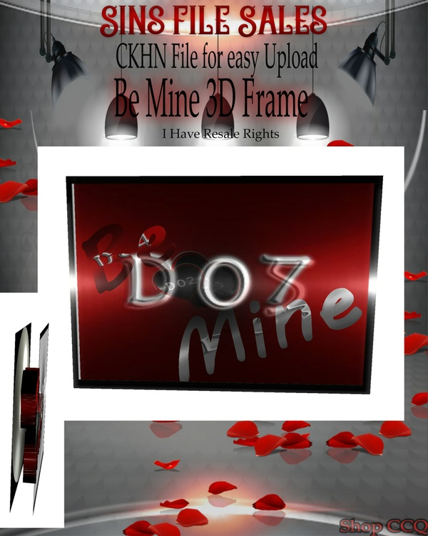 ♥Be Mine 3D Frame Mesh*CHKN File
