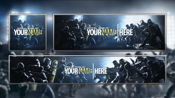 Tom Clancy's Rainbow Six Siege - Revamp Template - Photoshop