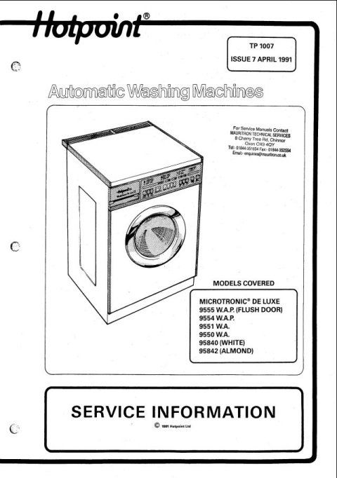 Hotpoint 9555A Service Manual