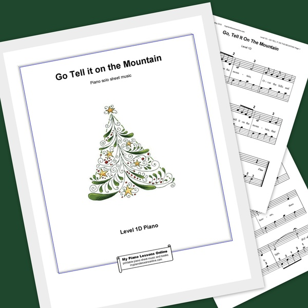 Go Tell it on the Mountain printable piano sheet music