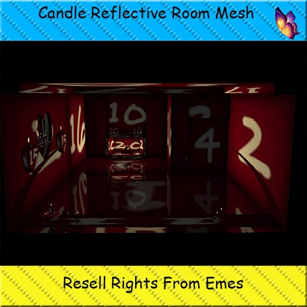 Candle Reflective Room Mesh Catty Only!!!