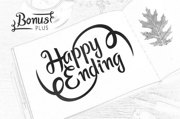 Happy Ending Typeface - PWYW