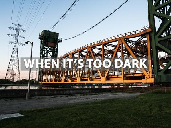"""""""When It's Too Dark"""" - Lightroom Preset"""