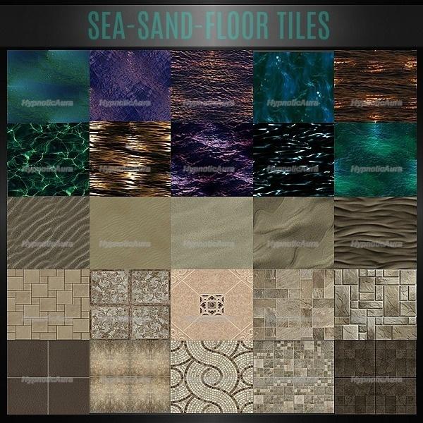 A~SEA-SAND-FLOOR TILES 115 TEXTURES