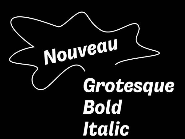 Nouveau Grotesque Bold Desktop 1-3 User