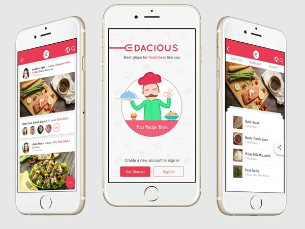 ionFullApp Social 9 Food Recipe Edacious