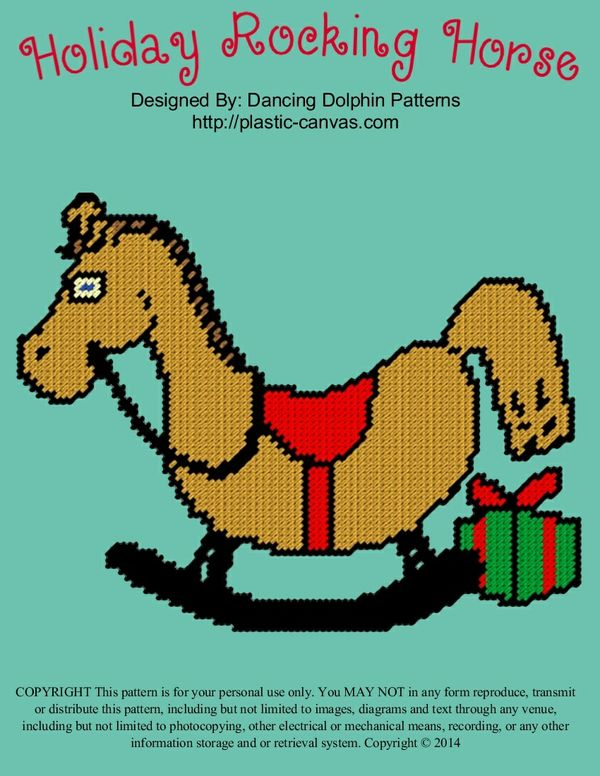 607 - Holiday Rocking Horse