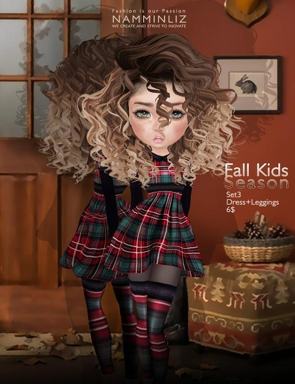 Fall Kids Season SET3 imvu texture JPG ( Bibirasta dress )