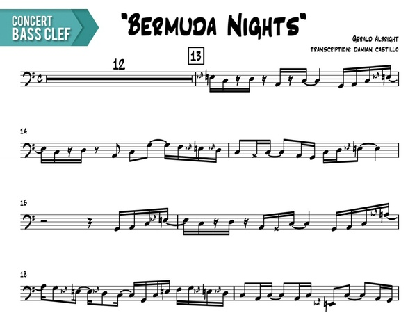 "Gerald Albright - ""Bermuda Nights"" - Concert Bass Clef"