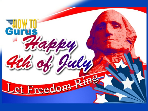 How To Make a Patriotic American 4th of July Celebration Card in Photoshop Elements Tutorial