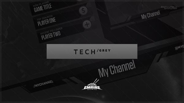 Stream Overlay | Tech Grey - No Photoshop!