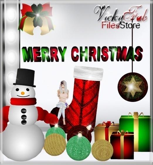 Christmas Meshes Bundle (10 textured meshes)