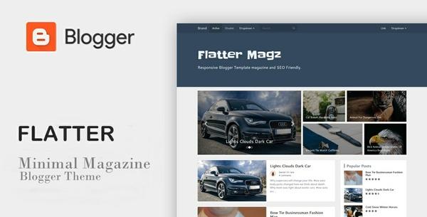 Flatter Magz SEO Responsive Blogger Template