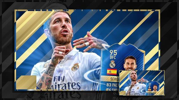 FIFA 17 RAMOS TOTS THUMBNAIL TEMPLATE
