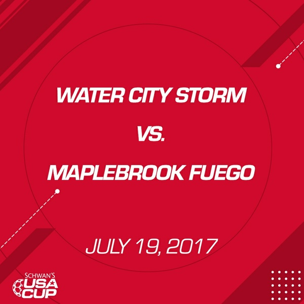 Girls U16 Gold - July 19, 2017 - West Cities Storm vs MapleBrook Fuego