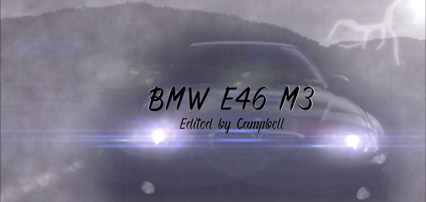 BMW E46 M3 Edit After Effects CC Project File