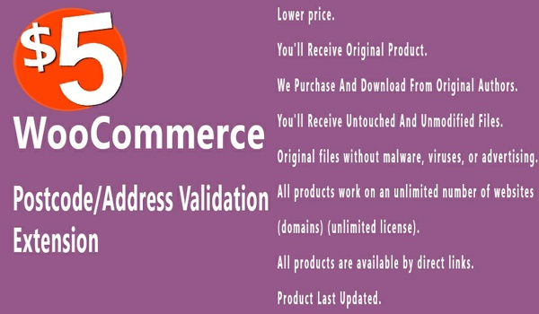 WooCommerce Postcode Address Validation 2.3.0 Extension