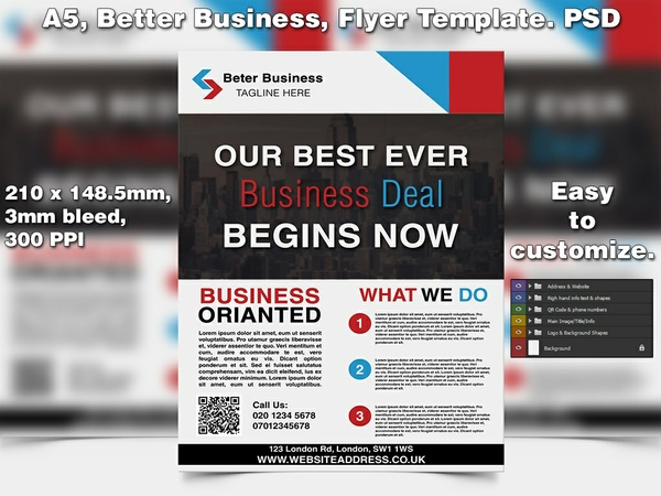 Better Business Agents Flyer Template (A5 PSD)
