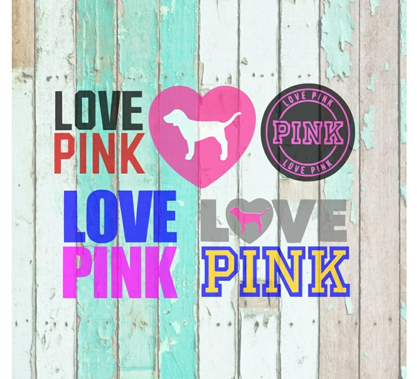 Love Pink SVG and PNG 5 Different