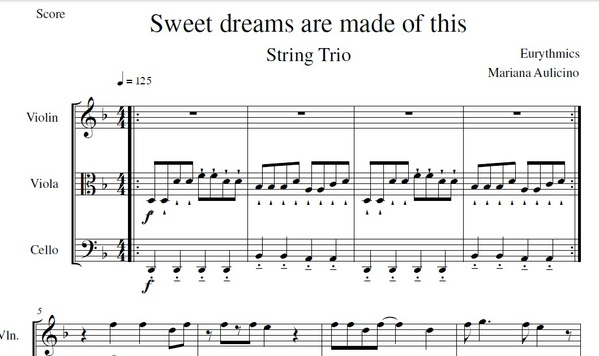 Sweet Dreams Are Made Of This - Eurythmics - String trio