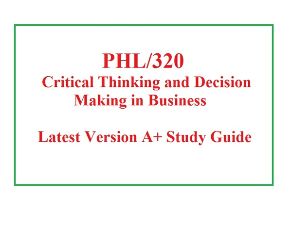 PHL 320 Week 3 Knowledge Check