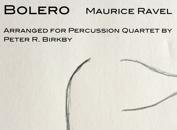 Bolero for percussion quartet