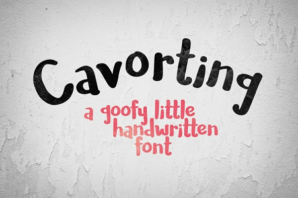 Cavorting: a goofy little handwriting font!