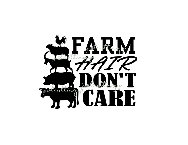 Farm Hair Dont Care SVG