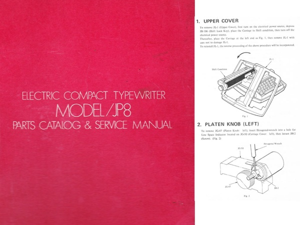 Brother JP-8 Electric Portable Typewriter Repair Adjustment Service Manual
