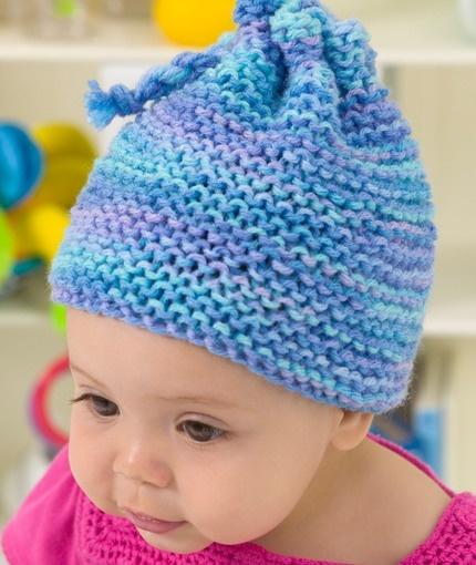Knit Hat in Garter St