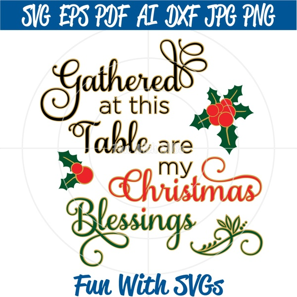 Christmas Blessings, Christmas Tree SVG, Tractor and Trailer SVG, Christmas SVG FIles
