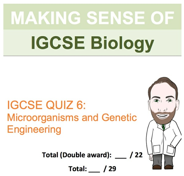 IGCSE Biology - Microorganisms and Genetic Engineering Revision Quiz