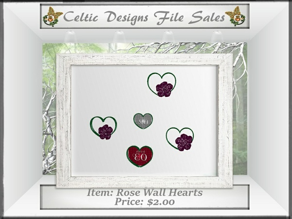 CD Rose Wall Hearts
