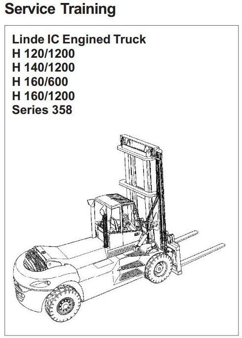 Linde Forklift Truck Type 358: H120-1200, H140-1200, H160, H160-1200 Workshop Manual