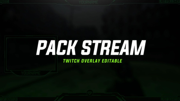 PACK FREE: STREAM TWITCH OVERLAY PROFESSIONAL | CSGO - COD - OVERWATCH - BATTLEFIELD