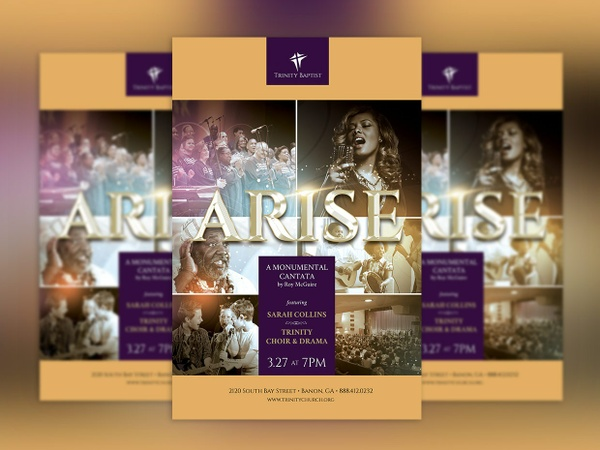 Arise Cantata Flyer and Poster Template