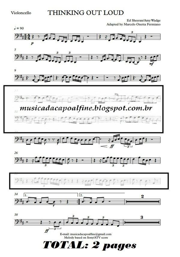 Thinking Out Loud -Ed Sheeran - Violoncello - Parts sheet music download.pdf