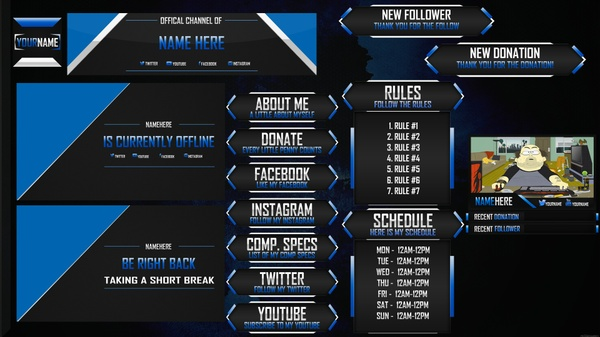 AMAZING LOOKING Free Twitch Overlay #2 (SIMPLE AND CLEAN!)