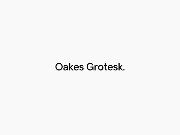 Oakes Grotesk