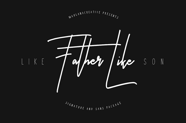 Like Father Like Son Typeface