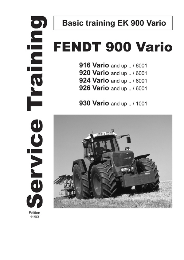 Pdf Download Fendt 900 916 920 924 926 Vario Tractor Workshop Service Repair Manual