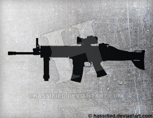 FN SCAR - printable, vector, svg, art