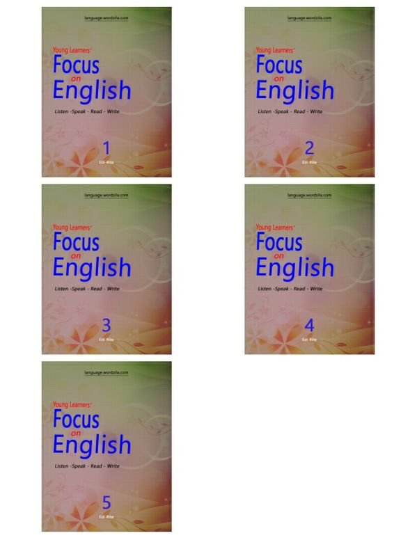 Focus on English All 5 Books