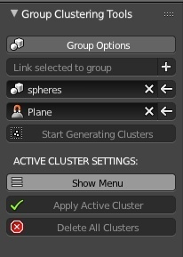 Blender: Group Clusters Add-on
