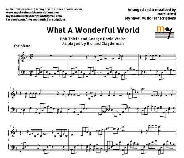 What A Wonderful World (Richard Clayderman) Sheet music (.pdf)